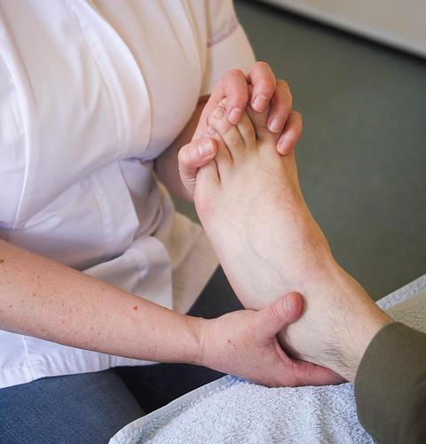 Zoneterapi på fod